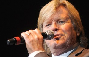 Peter Noone with microphone